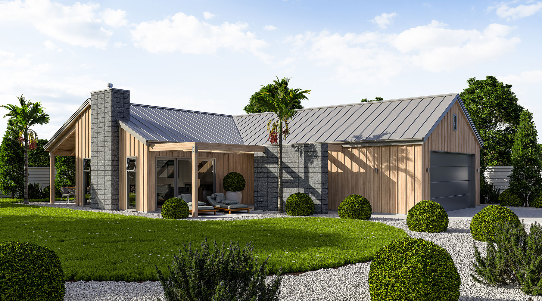 Artist impression of Mangawhai house design